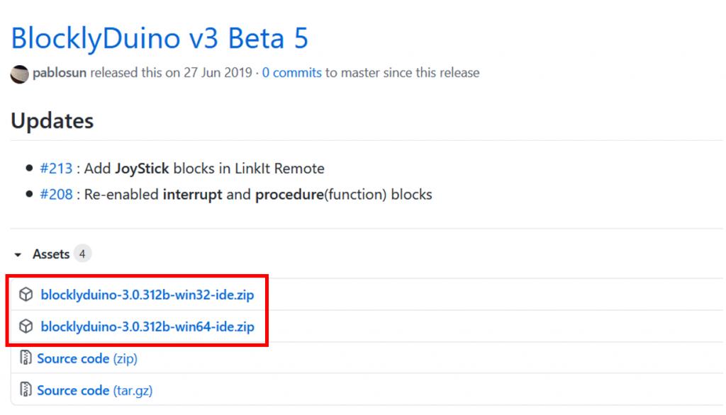 選擇自己的Windows版本下載 BlocklyDuino