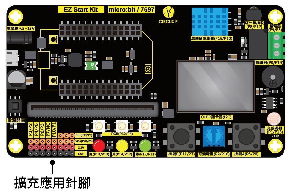 EZ Start Kit 擴充接腳排針