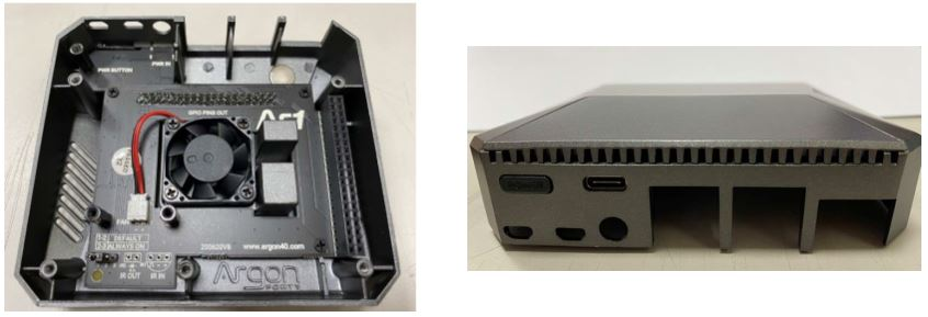 樹莓派 Raspberry Pi 4B 鋁合金上殼內部與孔位