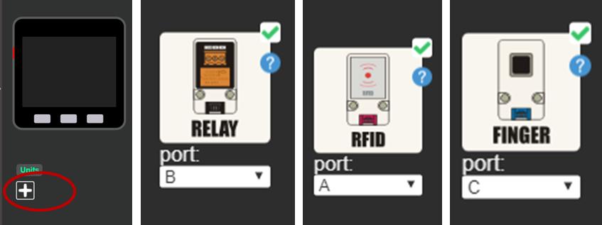 Unit模組Port設定